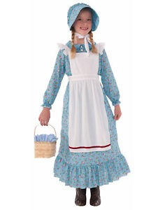 Colonial Pioneer Little House On The Prairie Girl Childs Costume