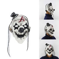 Unisex Scary Devil Clown Mask Latex Costume Head Mask for Halloween Party Prop