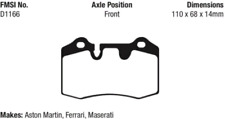 EBC Yellowstuff 4000 Brake Pad Set Front-Rear for Ferrari / Maserati # DP41909R