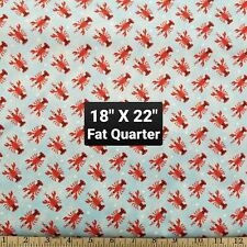 Lobster Seafood Sea Ocean Fabric Material 100% Cotton