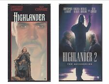 2 Sean Connery Action & Adventure R movies w/Christopher Lambert