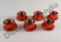 Rear sprocket nuts RED cush drive alloy billet set 6 M10 x 1.25mm Ideal Ducati