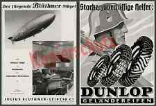 Or. Publicité ZEPPELIN LZ 129 musique Salon Blüthner Aluminium-Piano aviation 1936