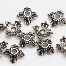 100Pcs Tibet Silver Flower Spacer Bead Caps Jewelry Findings Making DIY 6x2mm