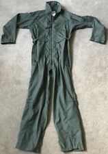Military Flight Suit 44 R Sage Green Coveralls Army USAF Overalls Men Flyers