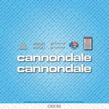 Cannondale R700 Bicycle Decals - Transfers - Stickers - White - Set 0608