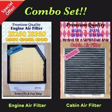 For GS350 GS450h GS460 IS250 IS350 RC350 Engine & Cabin Air Filter 6103 NEW IS C