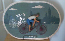 CURTIS JERE  1982  MIXED MEDIA ART WORK ''RACING CYCLIST''