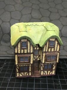 15 mm European Tudor style Thatch Roof Manor Unpainted building miniature