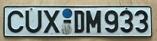 "GERMANY GERMAN  AUTO  PASSENGER LICENSE PLATE "" CUX DM 933 """
