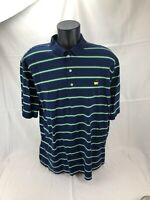 Masters Collection Polo Golf Shirt Augusta National Striped Navy Blue White XL
