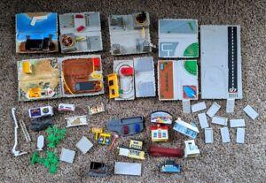Vintage Micro Machines TRAVEL CITY Battle block Car wash Toll Quarry Dump xtras