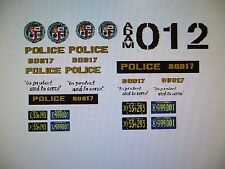 Adam 12 TV Show Police  Car Decals 1:18 FREE US SHIPPING