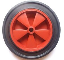 "250mm.(10"") Red Centre Solid Rubber Tyre Wheel  Wheelbarrow, Truck, Trolley*"