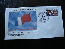 FRANCE - enveloppe 21/12/1990 27e congres du PCF (cy7) french (q)