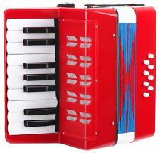 8-Bass Kinder Akkordeon 17 Noten Schifferklavier Ziehharmonika Schulter Riemen