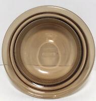 Corning Ware Pyrex Vision V-30-B 24 oz Amber Casserole Dish No Lid Ribbed Sides