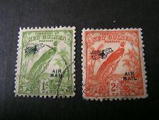 NEW GUINEA, SCOTT # C15+C17(2), 1/+2p. VALUES 1931 BIRD OF PARADISE ISSUE USED
