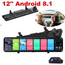 HD 1080P 12'' GPS Wifi 4G Car Dash Camera Video Recorder Dual Cam DVR G-sensor