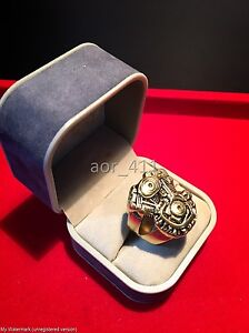 Harley V-TWIN Engine Brass Ring Men/Women Sz 7-12 REVOLUTION Biker Handmade