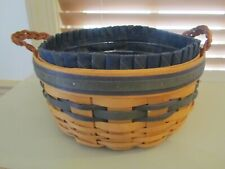 New listing Longaberger 1998 Collector's Club Renewal Basket Liner Protector Leather Handles