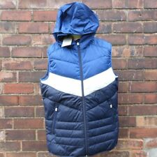 Jack and Jones Gilet Body Warmer Padded Hooded Mens XL Blue NEW BNWT Free UK P+P