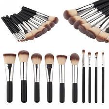 Kit De Pinceau Maquillage Professionnel 10PCS Noir Eyebrow Shadow Poudre Visage
