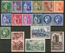 TIMBRES N° 476-492 NEUF * * GOMME ORIGINE- SERIE DE 1932-1938 AVEC NLLES VALEURS