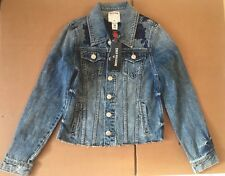 TRUE RELIGION WOMENS FLORAL EMBROIDERY DENIM JACKET SIZE SMALL NEW WITH TAGS