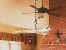 AirFrance Supersonic Concorde Airbus Plane Ceiling Fan Pull Light Chain K1294 F