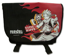 **Legit Bag** Fairy Tail Natsu & Happy Fire Authentic Messenger Backpack #11791