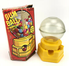 Vintage 1968 HASBRO GUMBALL Toy VENDING Machine BANK Plastic Made In USA In Box