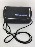 Gameboy Advance Game Boy Carrying Case Bag W/ Travel Strap Nintendo GBA Black