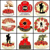 New Poppy Pin Badges 2019 British Army Veteran Military Lot Lapel Metal Brooches