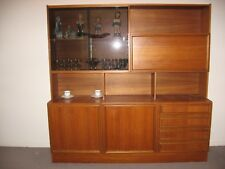 Vintage Retro Wooden Wall Unit/Cabinet/Display with Drawers and Cupboards
