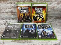 Lot of 5 Guitar Hero Rock Band Xbox 360 Games World Tour,Guitar Hero III Beatles