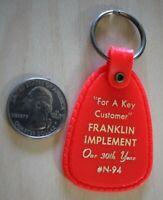 Franklin Implement Key Customer 30th Year Mailbox Drop Keychain Key Ring #27094