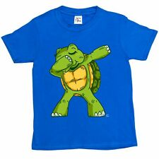1Tee Kids Boys Turtle Dab Dance  T-Shirt