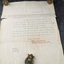 More details for super rare antique ww1 heroic life saving scouts letter hand signed baden powell