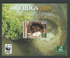 2009 PAPUA NEW GUINEA WWF FROGS K10 MINIATURE SHEET FINE MINT MNH