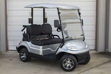 New 2021 Silver / Black Advanced EV 48V Electric Golf Cart 2 Passenger Golf Pkg