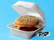 500 Hamburgerboxen Snackboxen Burgerbox Styro geschäumt weiß klein125x125x65mm