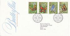 13 MAI 1981 Papillons bureau de poste Premier Jour Housse Bureau SHS (X)