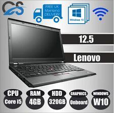 "LENOVO X230 12.5"" LAPTOP INTEL CORE i5 3320M 4GB DDR3 RAM 320GB HDD WINDOWS 10"