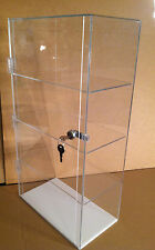 Acrylic Counter TOP Display Case 12 x 7 x 22.5 Locking (different shelf spacing)