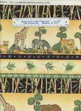 Fabric Traditions Cotton Leopard Lion Elephant Zebra Giraffe Bamboo Fabric