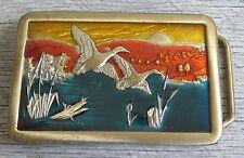 Flying Ducks Birds Waterfowl Duck Hunting Koleaco Vintage Belt Buckle