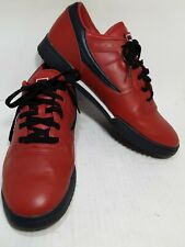 Fila men shoes size 12 red navy blue heels lace up
