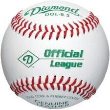 9 Diamond Official League Leather Baseballs Dol-8.5 Training Balls Junior Size