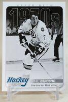 2012-13 Upper Deck Hockey Heroes 1970s Phil Esposito #HH36 HOF Boston Bruins